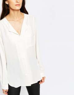 Selected Dynella Shirt in White 2