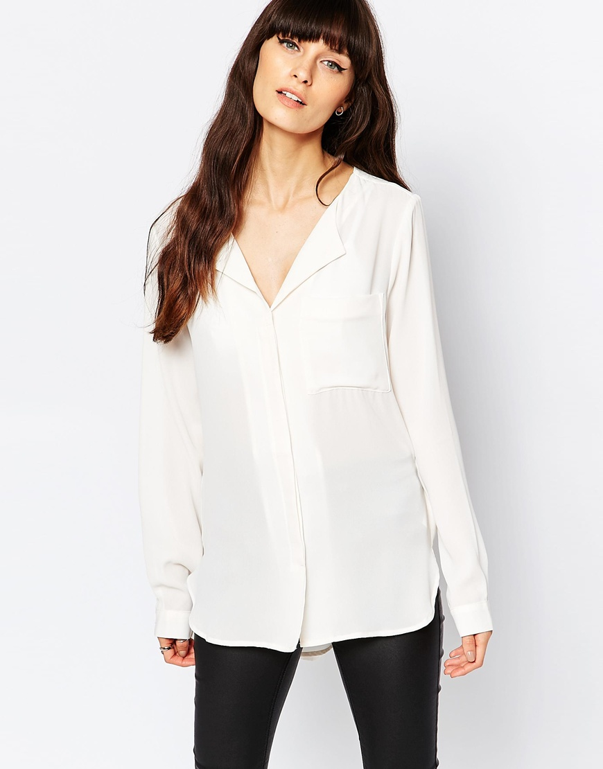 Selected Dynella Shirt in White 4