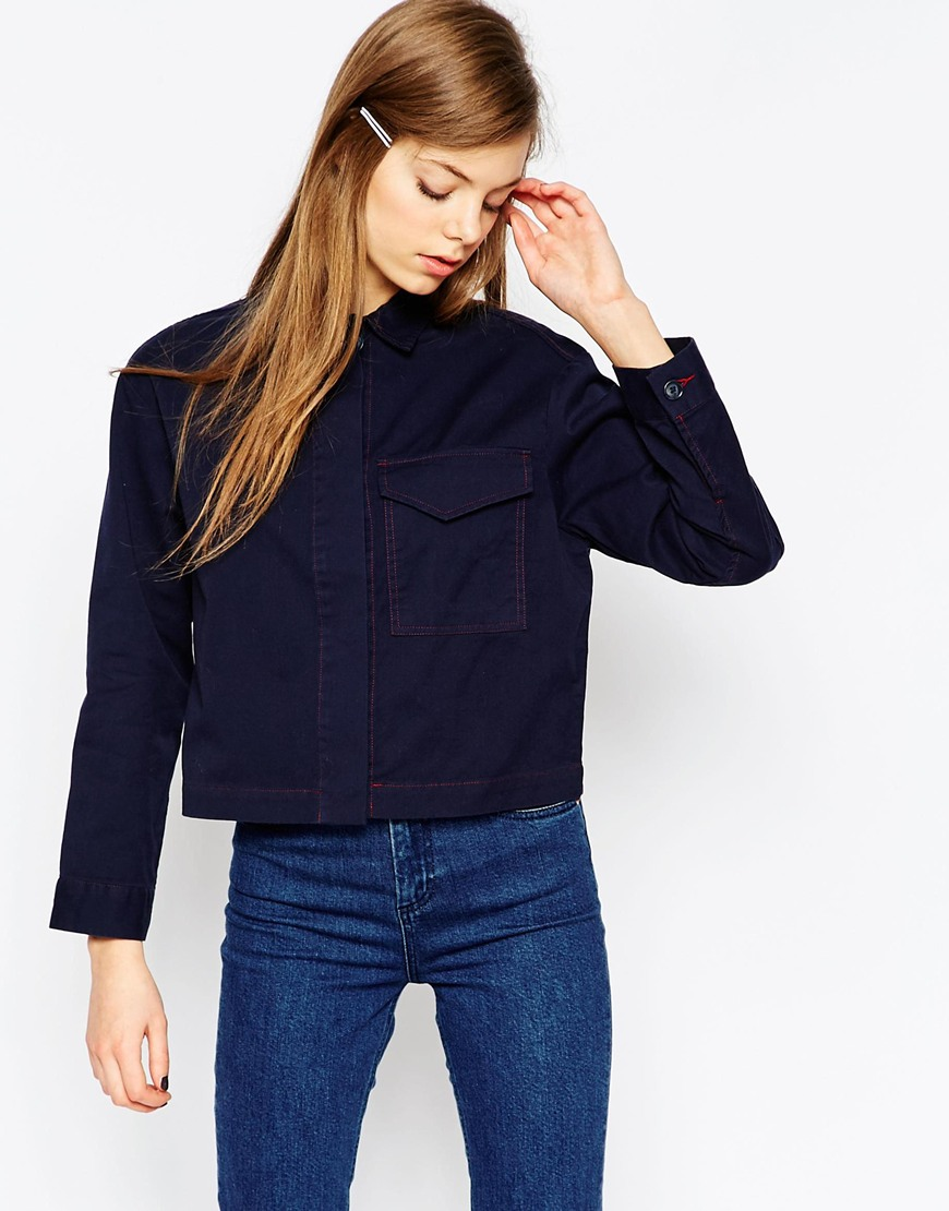 Slouchy Workman Shirt With Contrast Stitching 4