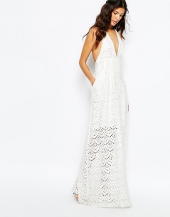 The Jetset Diaries Tuscani Maxi Dress in Ivory 3