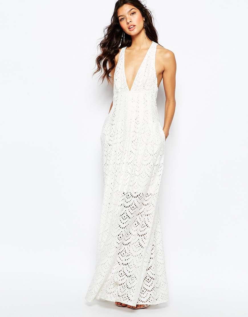 The Jetset Diaries Tuscani Maxi Dress in Ivory 4
