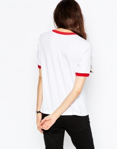 Tipped T-Shirt with Cherry Motif 1
