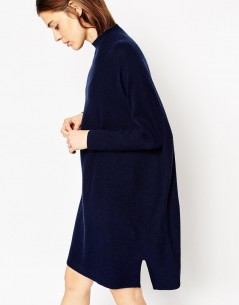 Tunic Dress In Knit With High Neck In Cashmere Mix 2