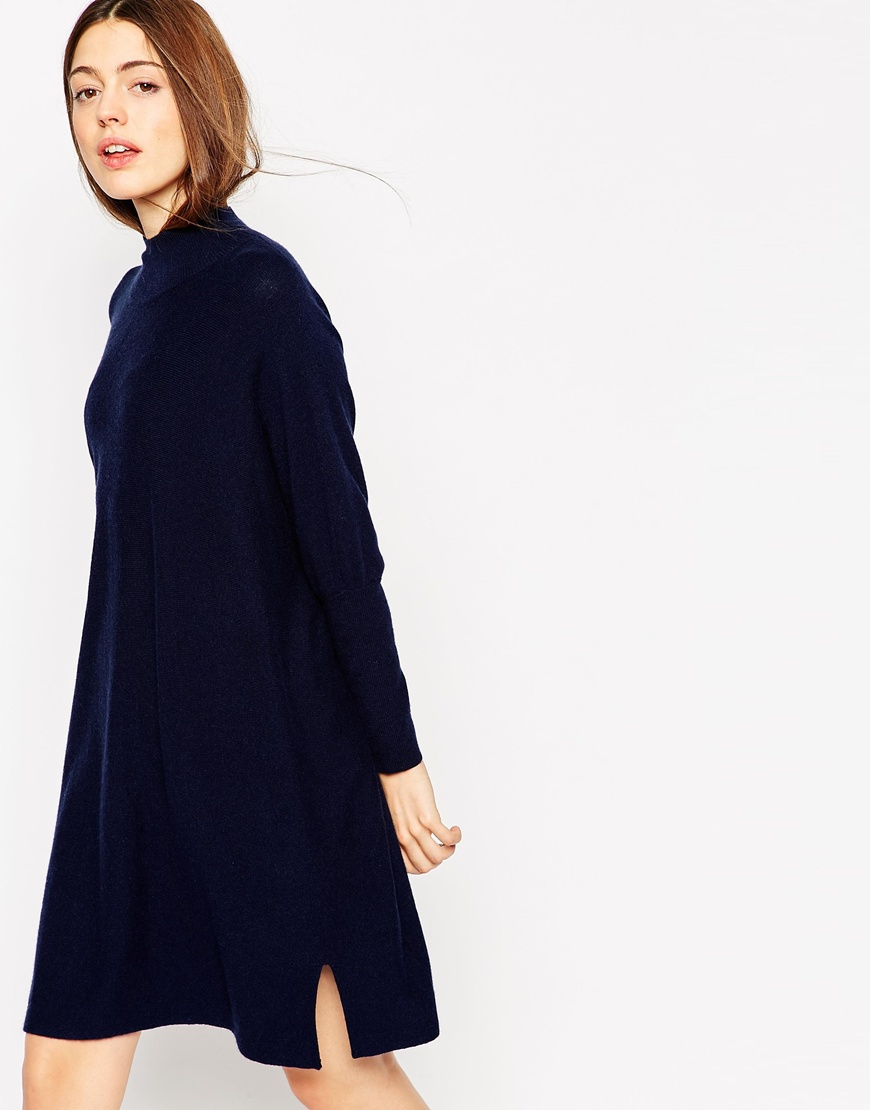 Tunic Dress In Knit With High Neck In Cashmere Mix 4