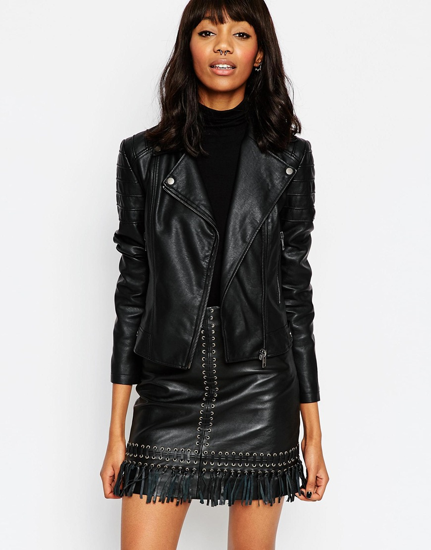 Ultimate Biker Jacket with Piped Detail 4