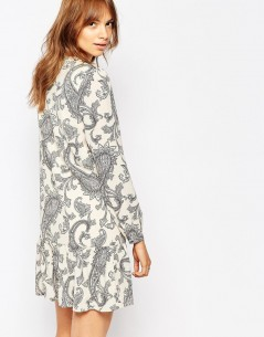 Vero Moda Paisley Print Drop Waist Dress 1