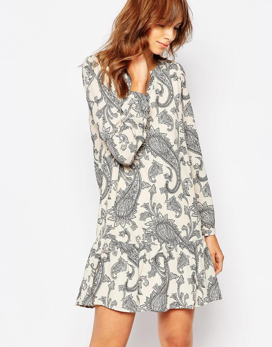 Vero Moda Paisley Print Drop Waist Dress 4