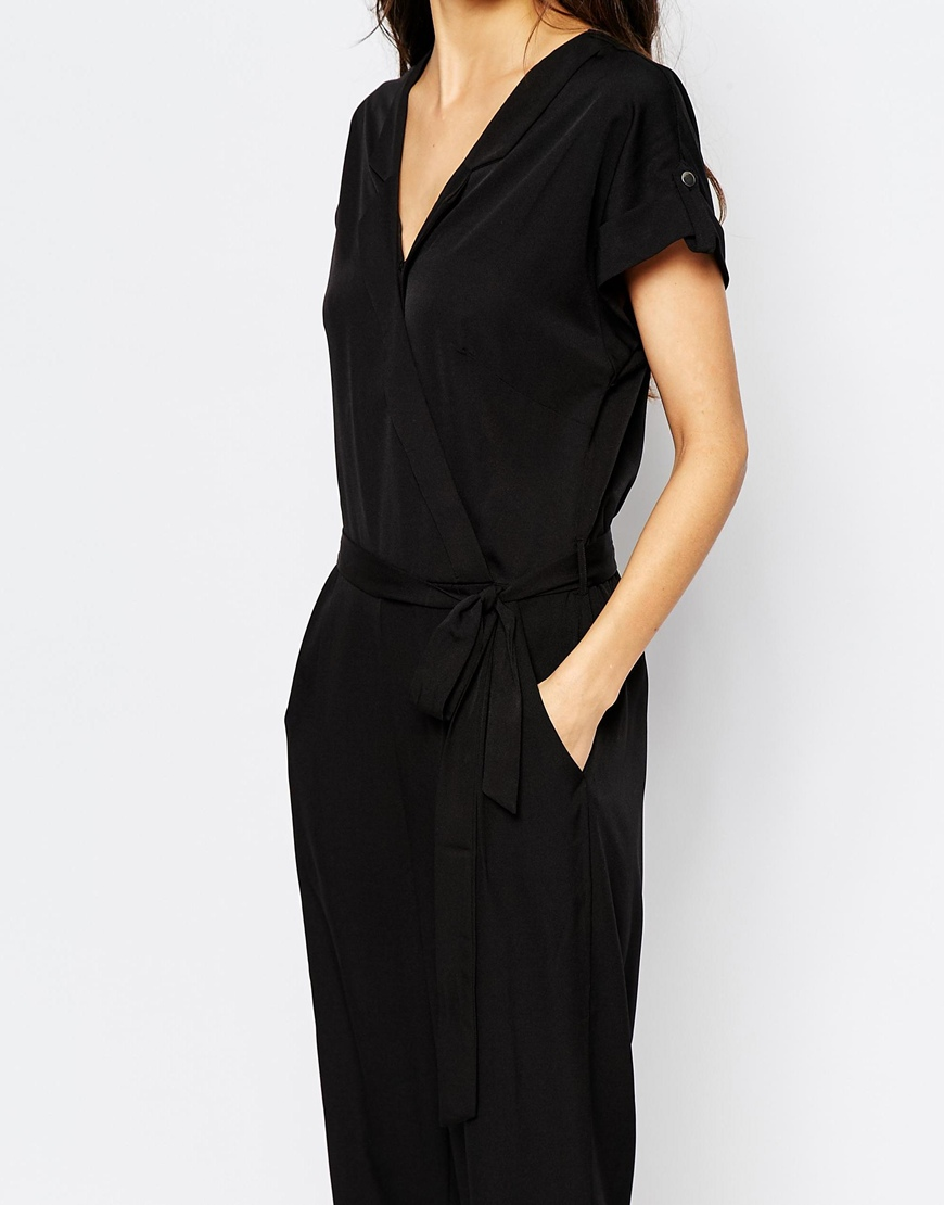 vero moda wrap front utility jumpsuit. Black Bedroom Furniture Sets. Home Design Ideas