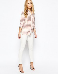 Y.A.S Past Shirt In Rose Stripe 3
