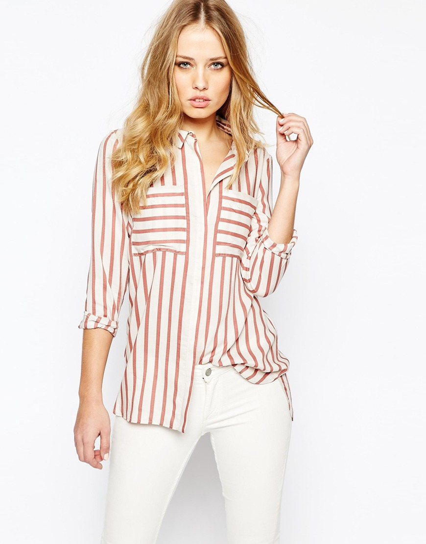 Y.A.S Past Shirt In Rose Stripe 4