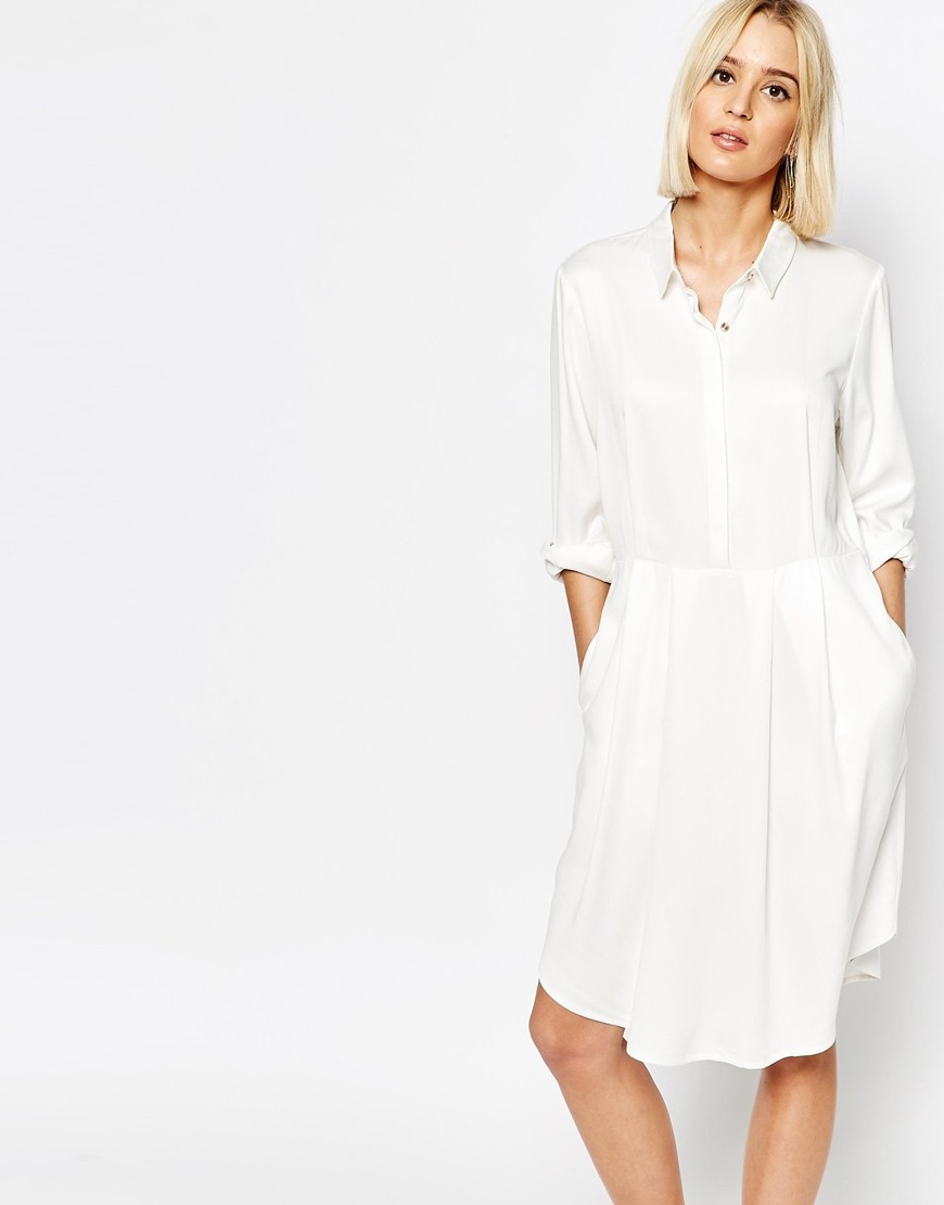 514f70f1b0f Gestuz Selma Shirt Dress with Pleated Skirt. Previous  Next
