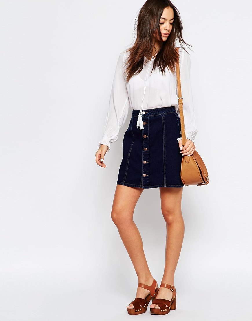 New Look A-Line Denim Skirt | OOTD