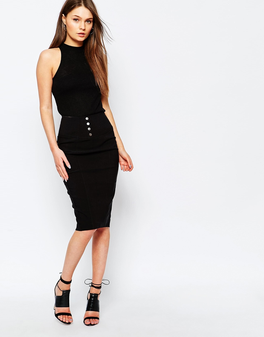 Get Authentic Cheap Online Cheap Sale Outlet Locations Womens Zip Ribbed Skirt New Look New For Sale Outlet Newest gllZtYP