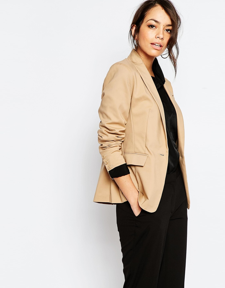 New Look Cotton Tailored Blazer 02