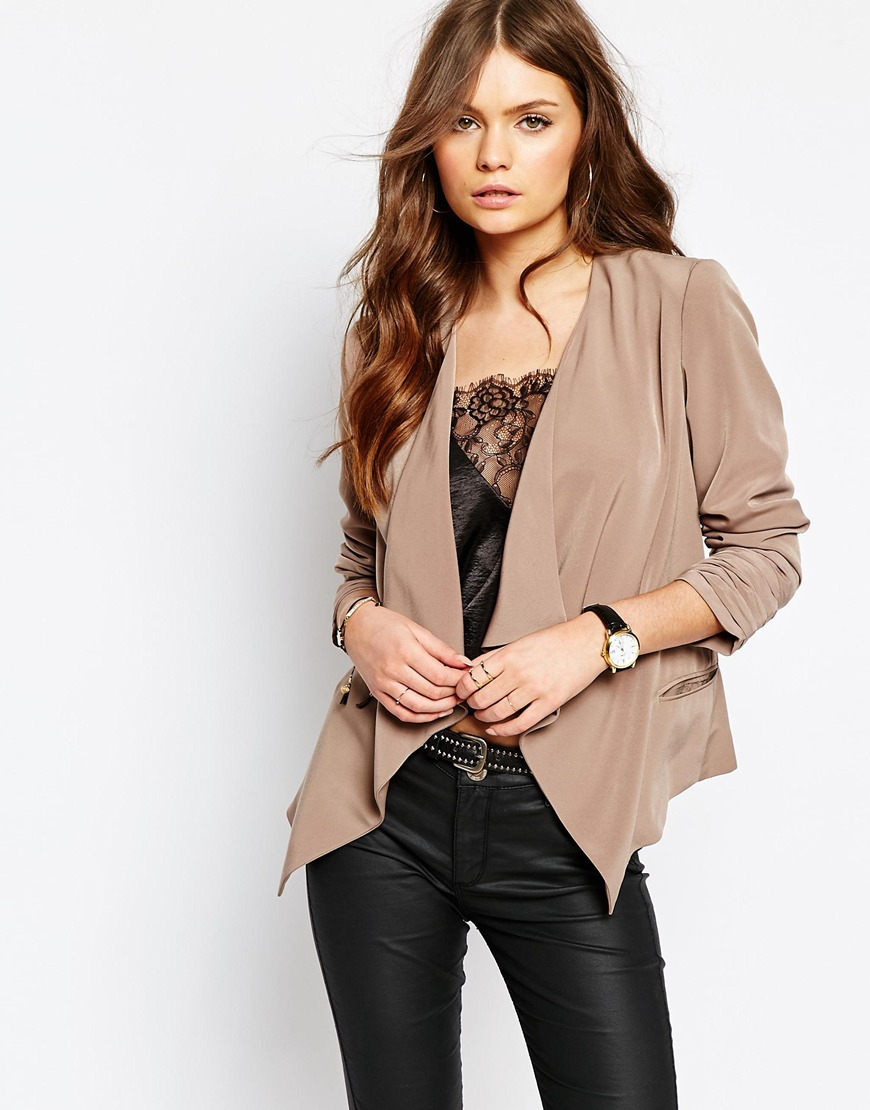 New Look Crepe Waterfall Blazer 02