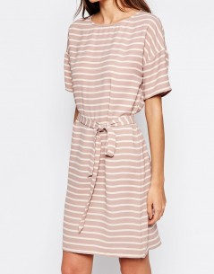 Selected Rosie Dress with Tie Waist 03