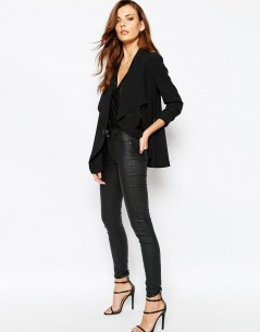 Sisley Blazer With Clasp Detail in Black 2