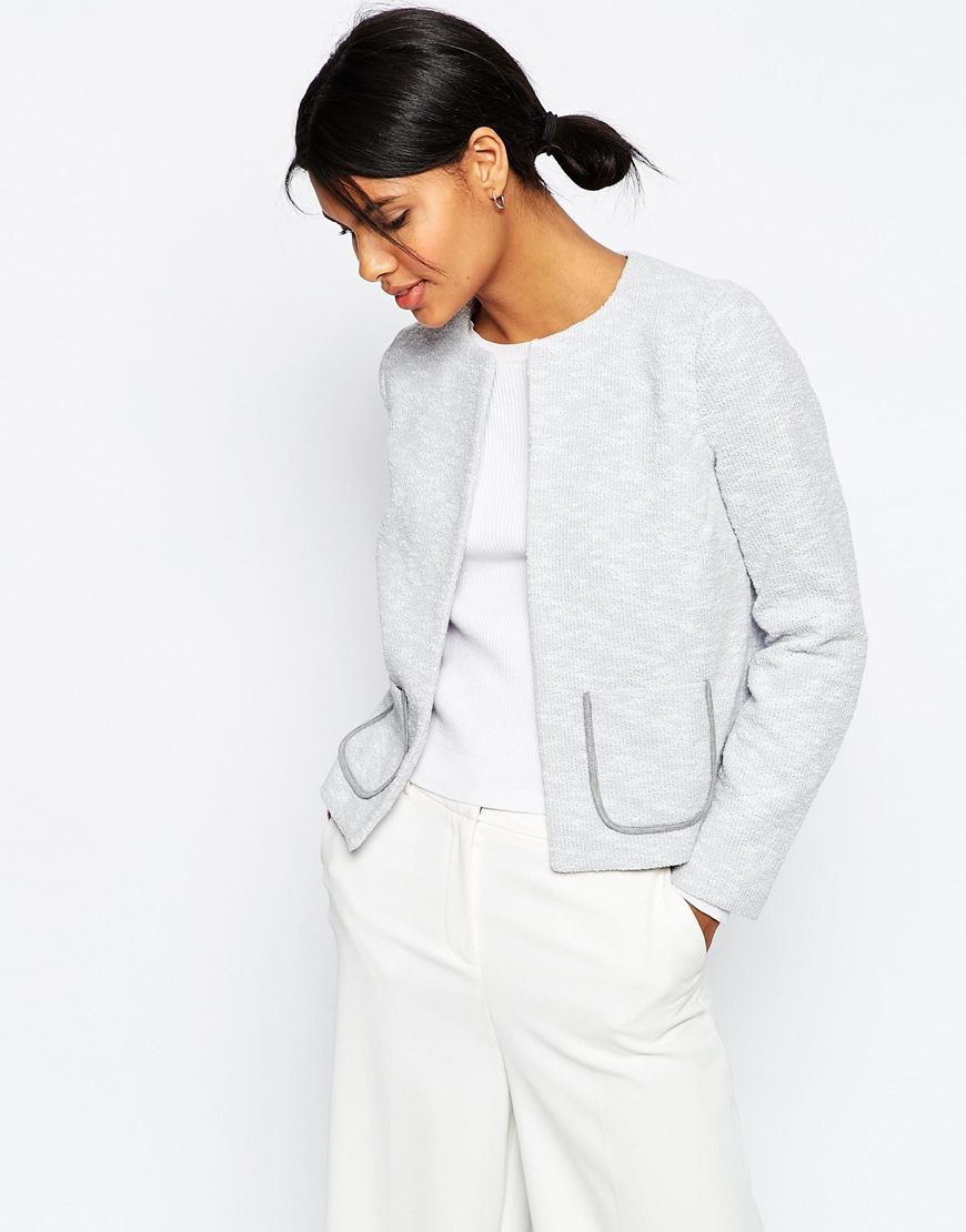 Textured Jersey Blazer with Pockets 3