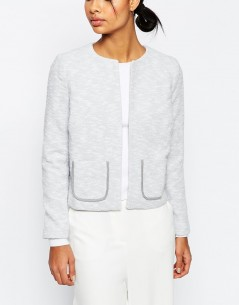 Textured Jersey Blazer with Pockets 4