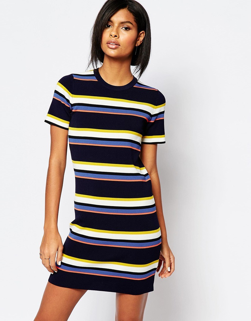 Whistles Stripe Knit T Shirt Dress Ootd