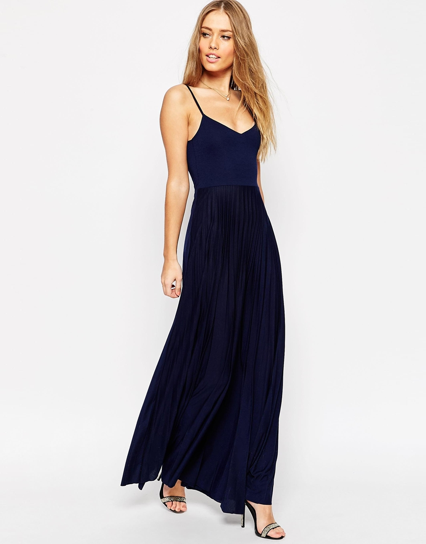 Cami Maxi Dress With Pleated Skirt Ootd