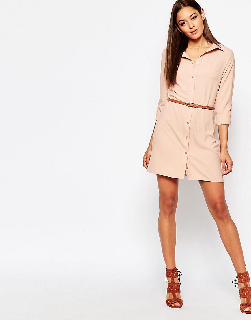 missguided belted shirt dress ootd