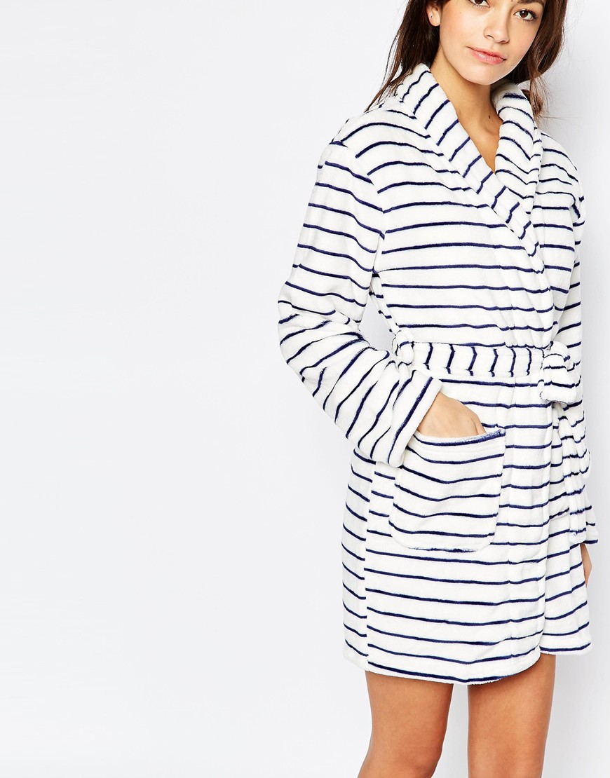 New Look Super Soft Striped Dressing Gown | OOTD