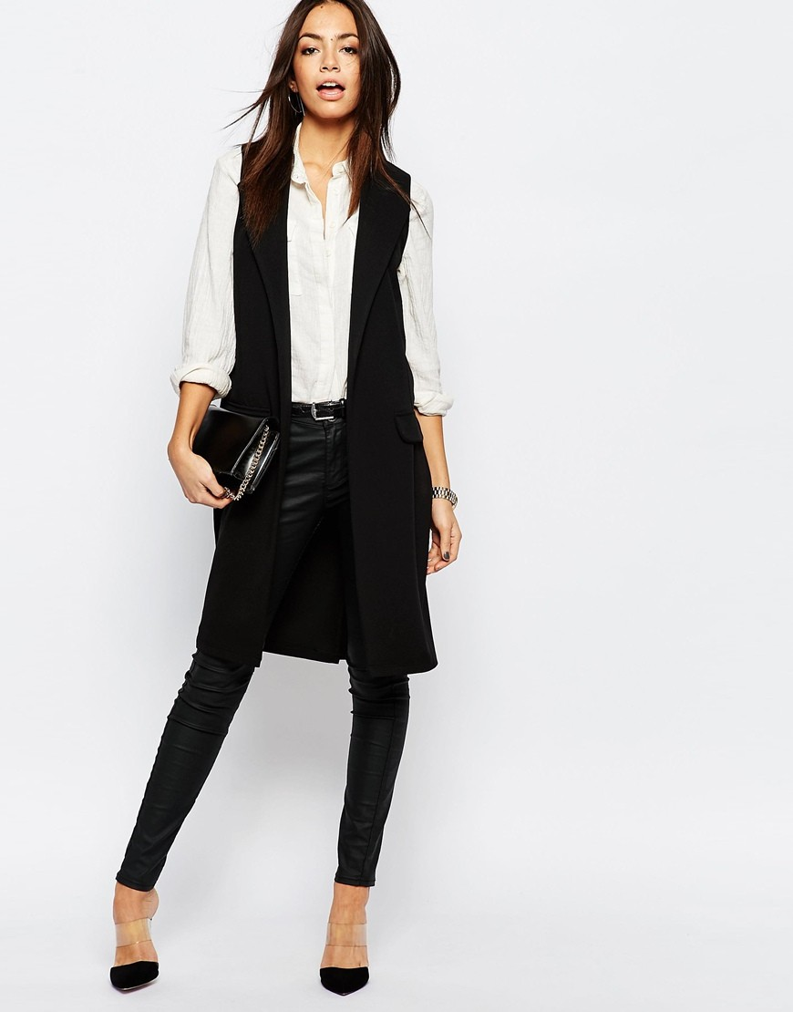 c289b96a99a8d0 New Look Tailored Sleeveless Jacket. Previous  Next