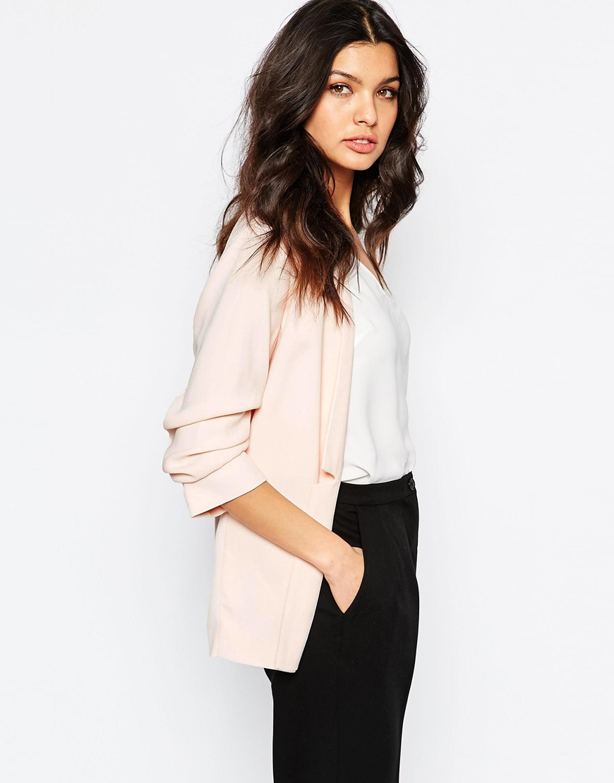 River Island Ruched Sleeve Blazer 02