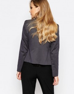 Sisley Cropped Blazer in Charcoal 2