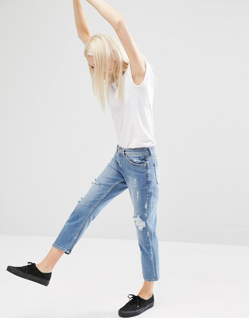 Cheap Monday Mid Rise Straight Cropped Jeans  OOTD