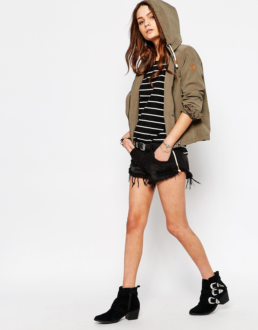 Only Skylar Short Parka Jacket | OOTD