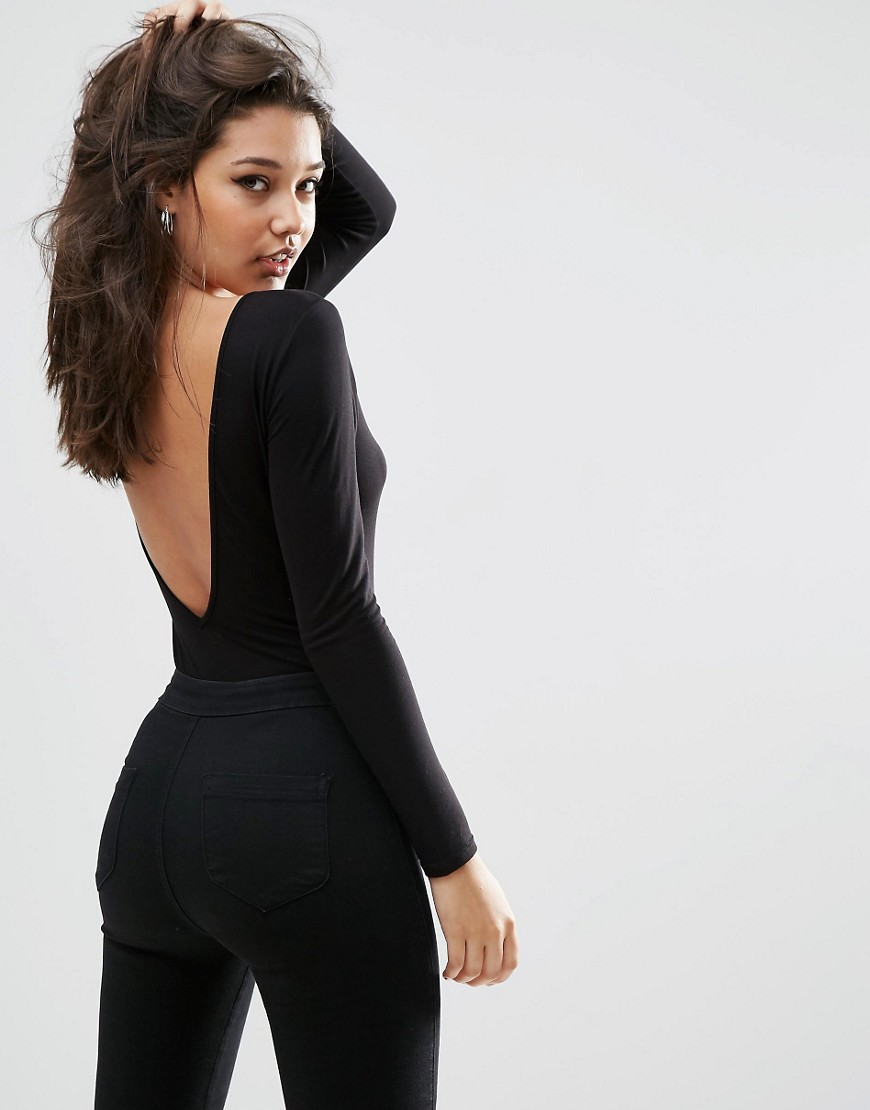 Scoop Back Body With Long Sleeves 01