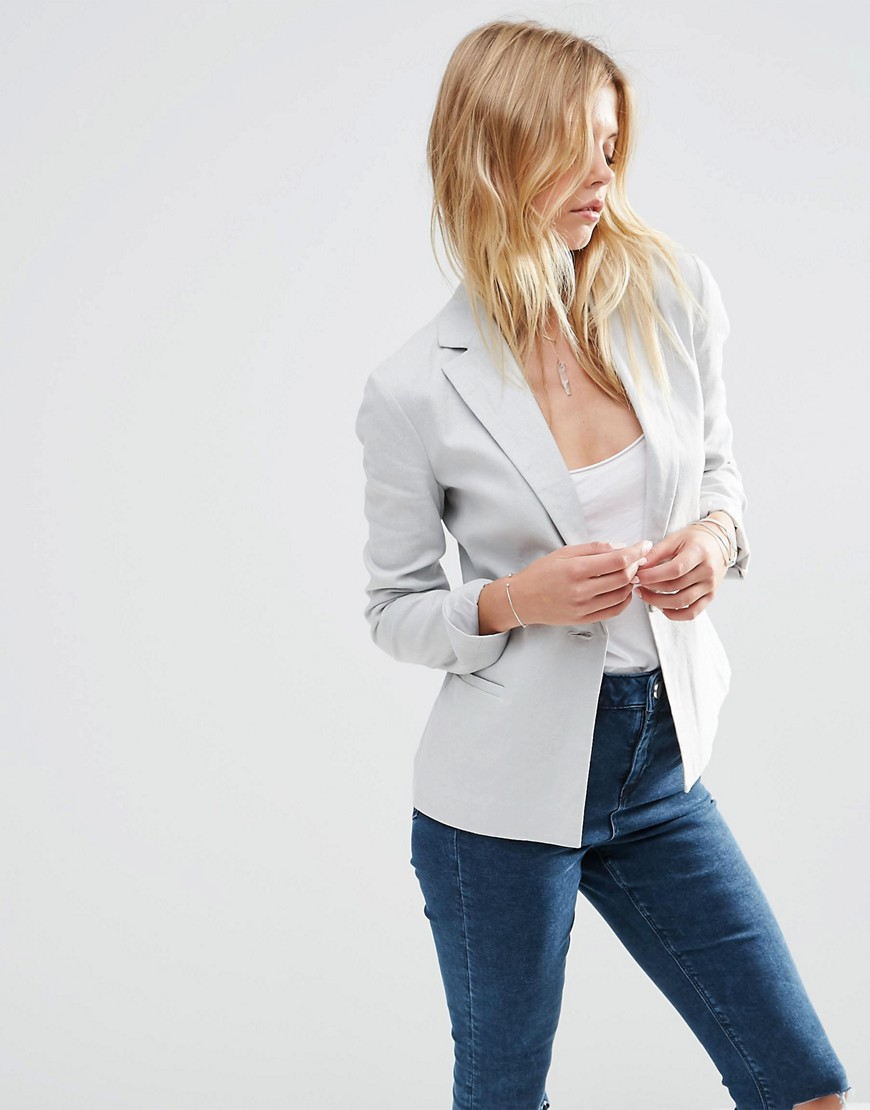 Tailored Blazer in Linen 01