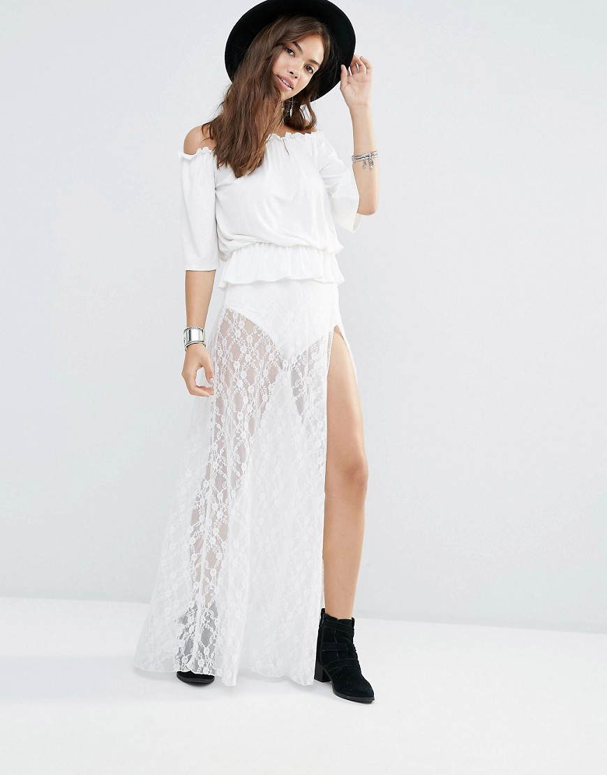 Boohoo Lace Maxi Skirt With Knickers 01