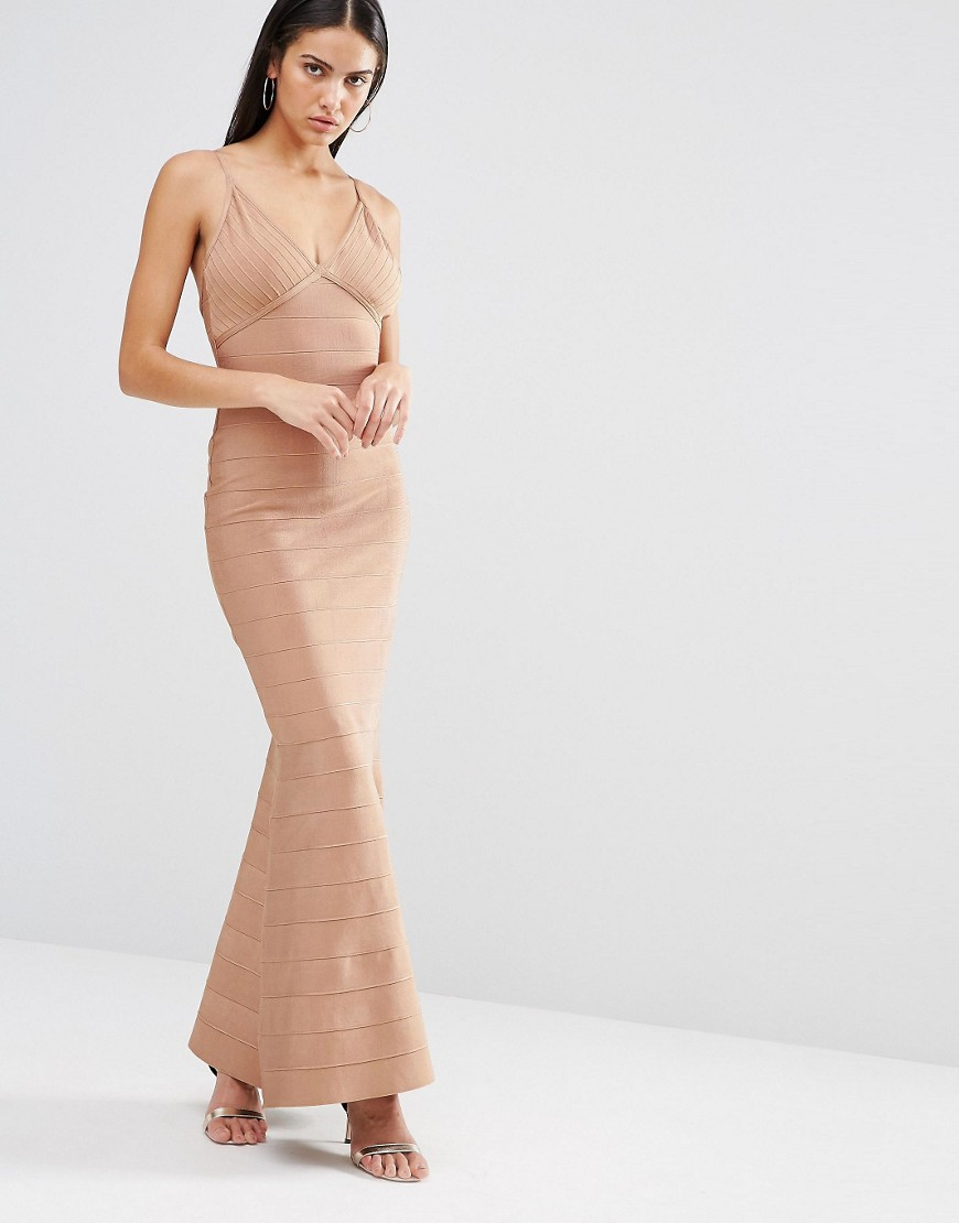 Missguided Cami Bandage Maxi Dress 01