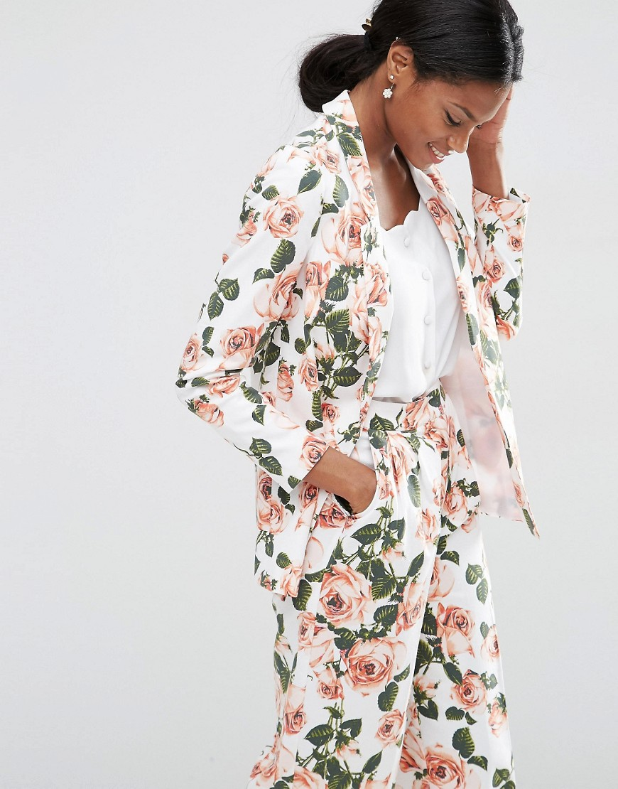 Floral Edge to Edge Blazer Co-ord 01