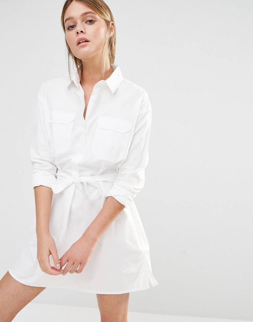 cb4cb59f66 French Connection Amy Poplin Shirt Dress. Previous  Next