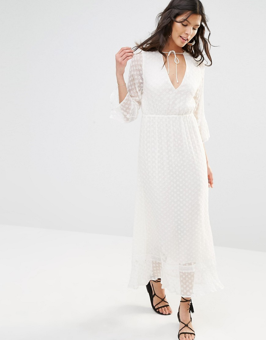 Stevie May Textured Longsleeve Maxi Dress Ootd