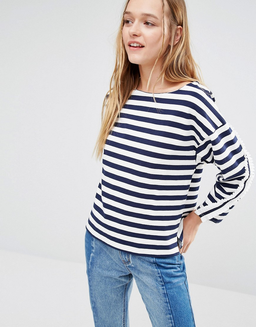 I Love Friday Long Sleeve Top With Frill Detail 01