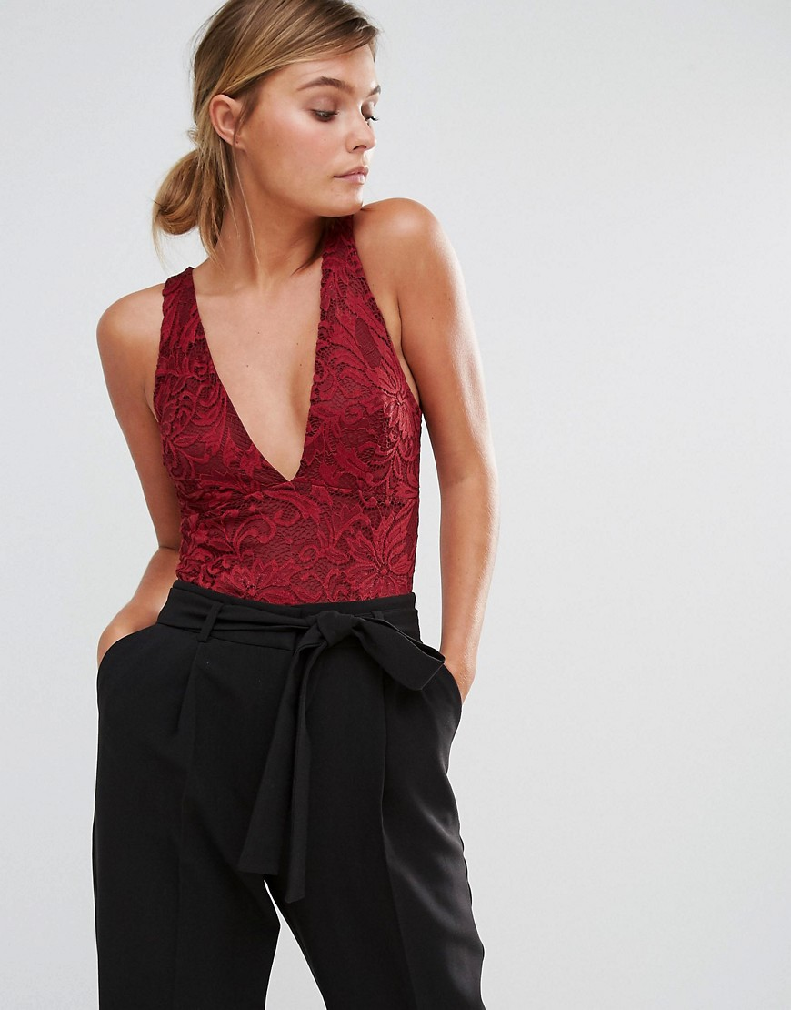 New Look Lace Plunge Neck Body 01