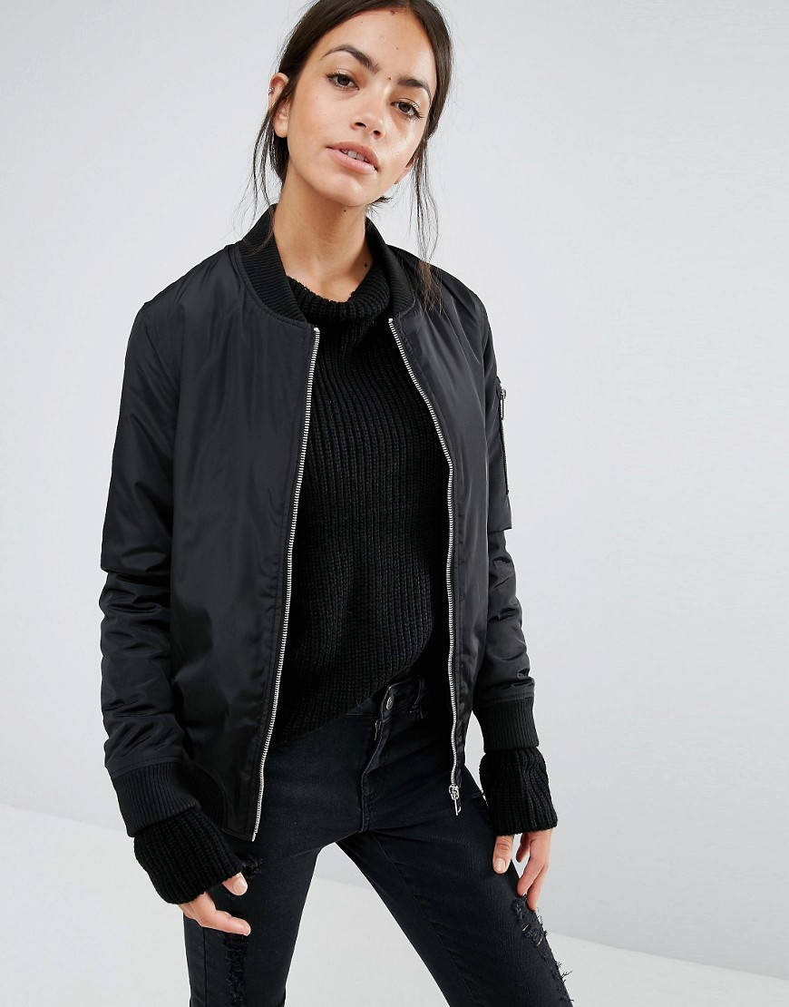 Leather jacket new look - New Look Padded Bomber Previous Next