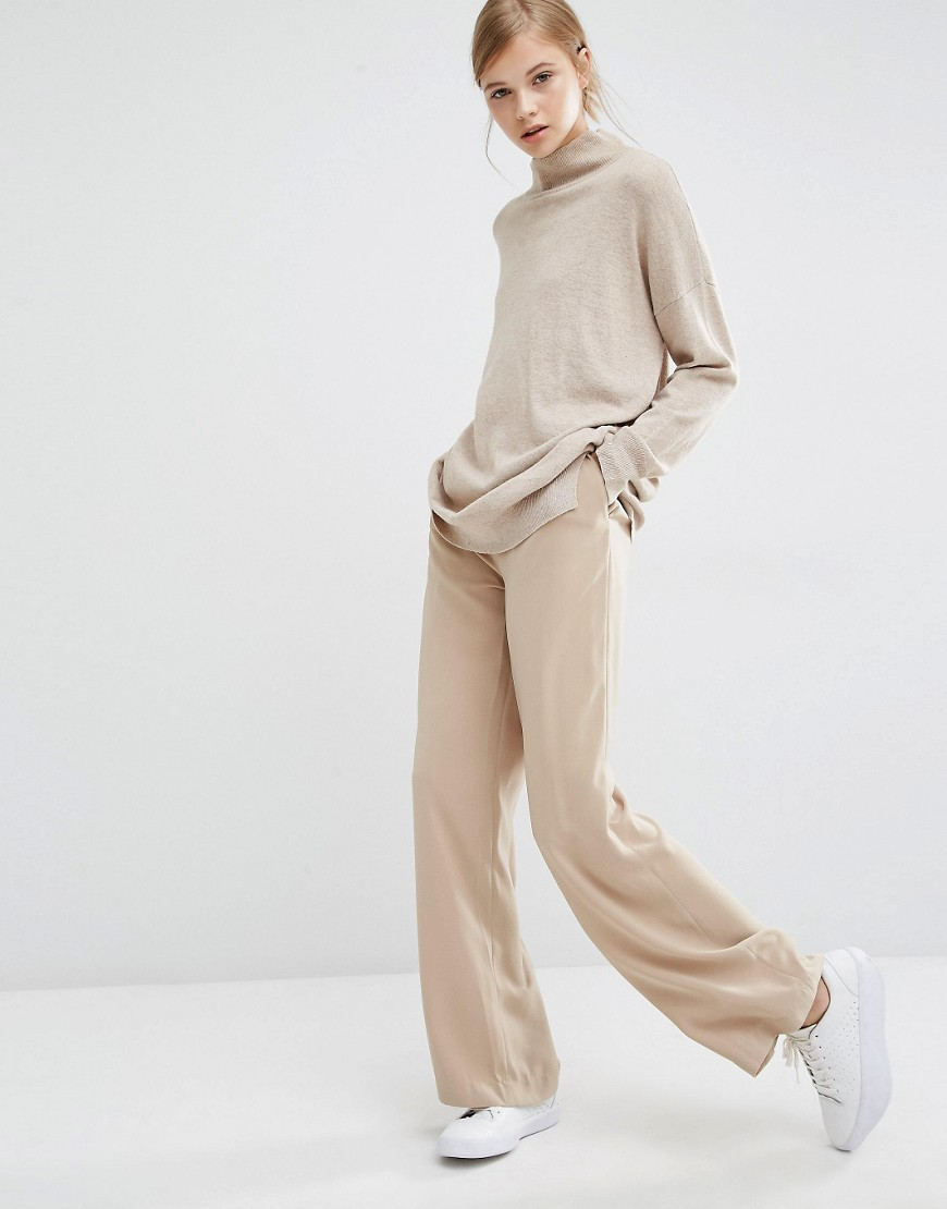 Paisie Wide Leg Trousers With High Waist 01