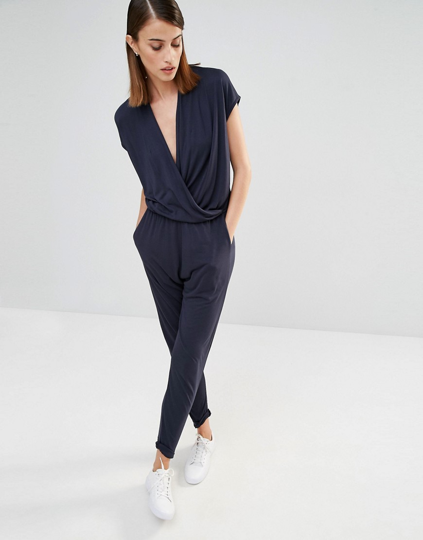 Selected Silla Wrap Front Jersey Jumpsuit 01
