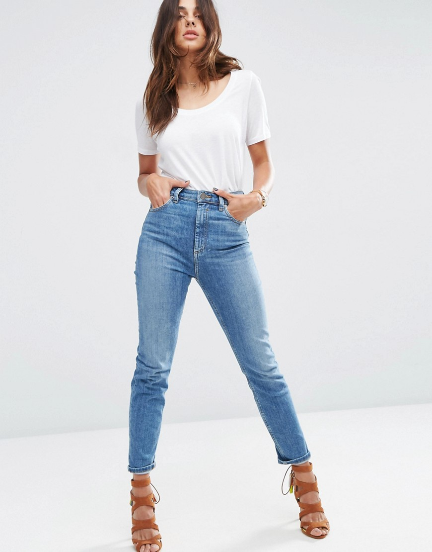 FARLEIGH High Waist Slim Mom Jeans | OOTD