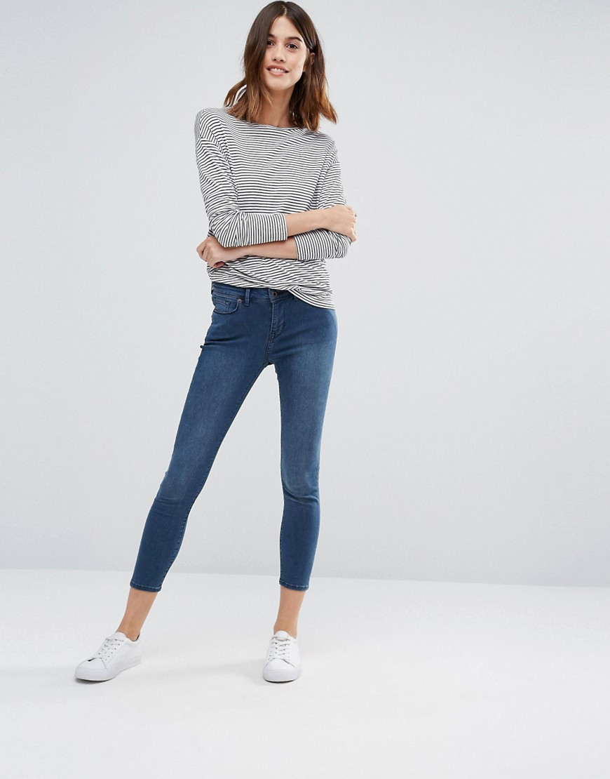 Jack Wills Fernham Super Skinny Mid Rise Cropped Jeans 01