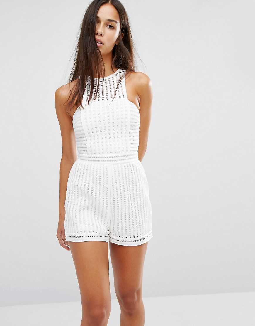 Missguided Mesh Playsuit 01