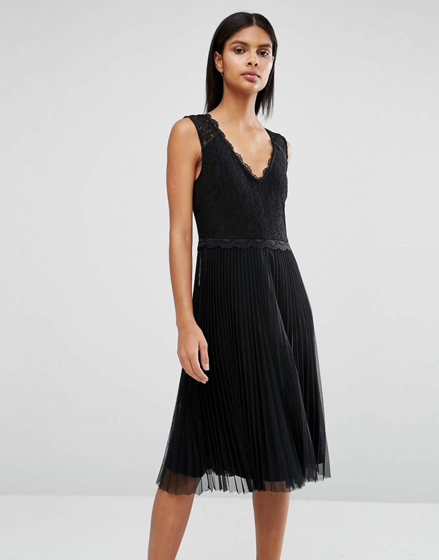Oasis Lace Pleated Dress 01