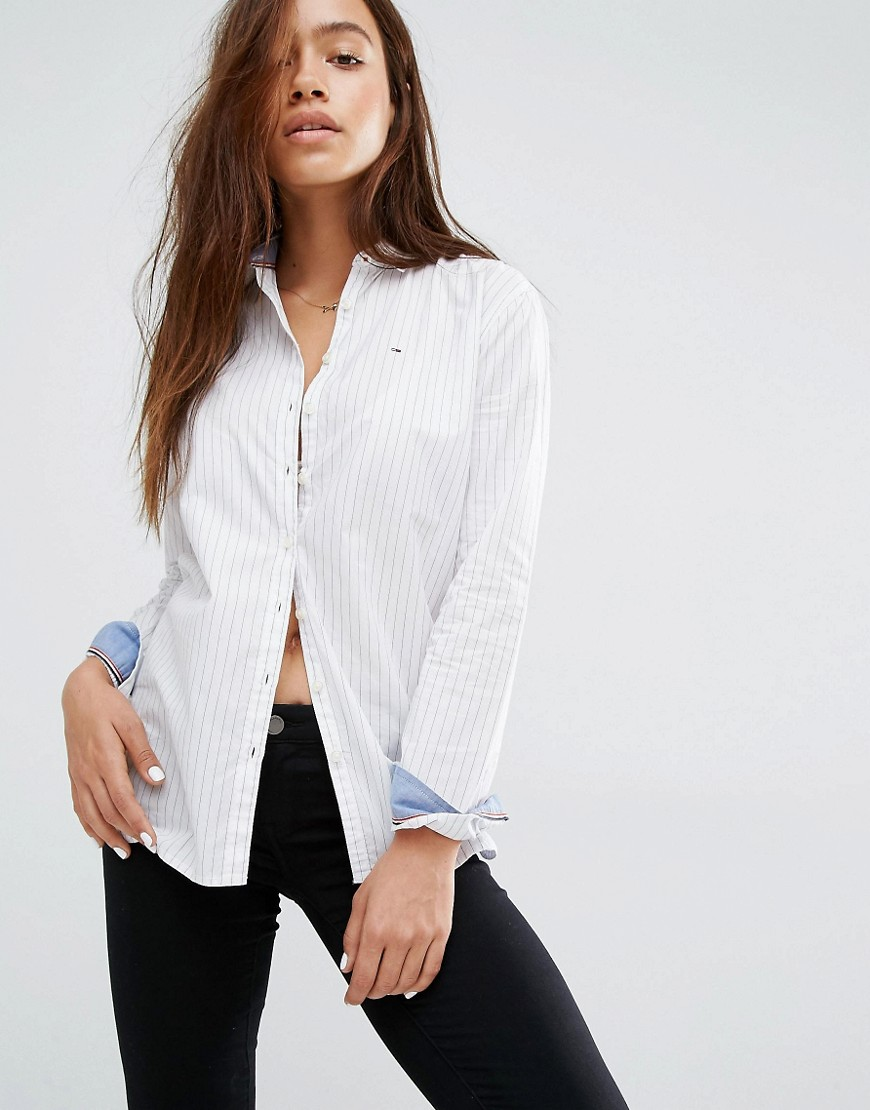 Hilfiger Denim Pinstipe Relaxed Shirt 01