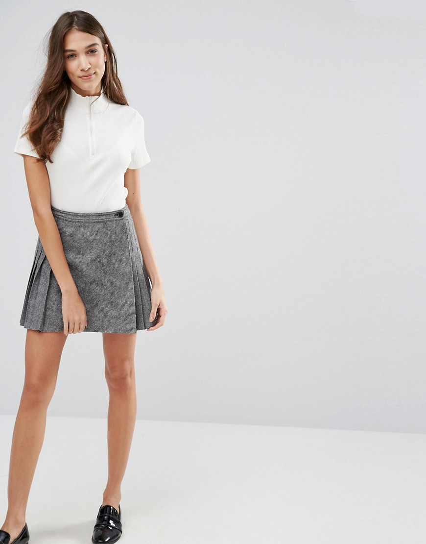 Jack Wills Halesowen Wool Herringbone Kilt 01